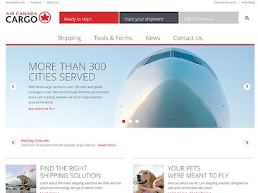Air Canada Cargo - Corporate website