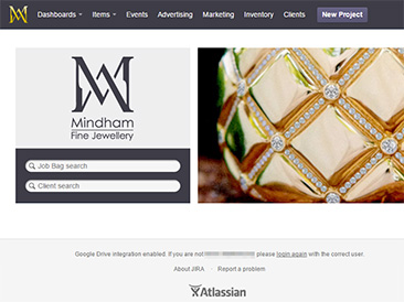 Mindham Fine Jewellery - Custom Atlassian JIRA