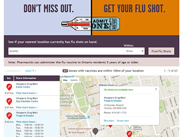Shoppers Drug Mart - Flu Shot Finder